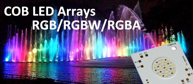80 W COB RGB LED Array 30V RGBW for Underwater Fountain Lights