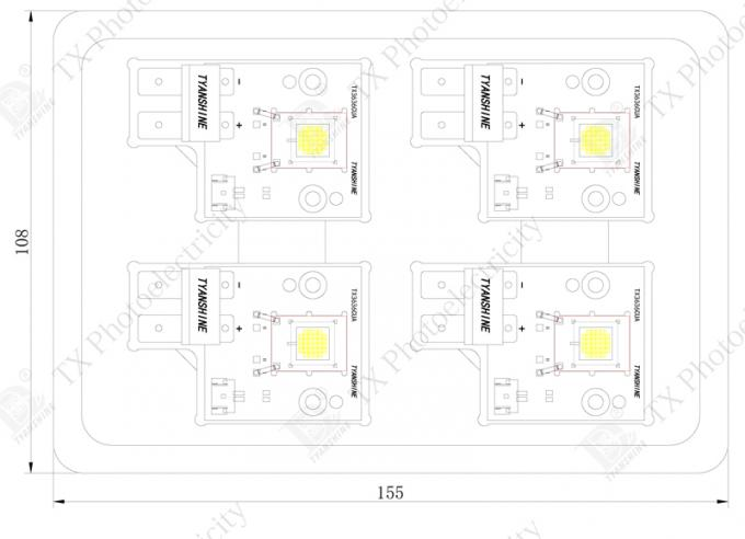 High Power LED Light Engine White 5000K - 8000K Integrated Multichips LED 150W