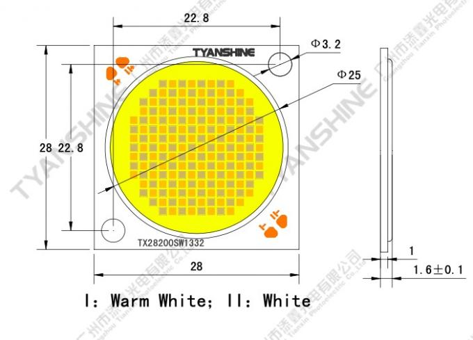 Studio Tunable White COB LED 200W CRI95 CCT 2700K-7000K with High Uniformity Color-mixing