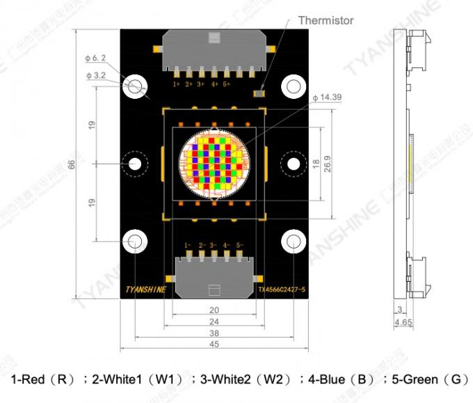RGBW LED Module 400W Stage Moving-head LED Light Engine