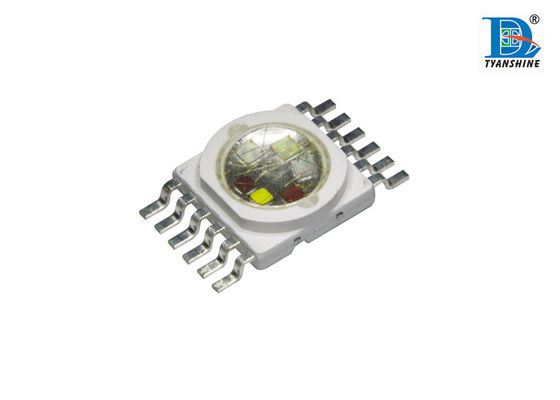 China 10Watt Multiple Color High Power LED with 6in1 RGBWA UV 520nm Green supplier