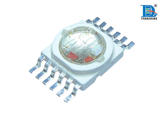 5 in1 RGBWA High Power Multi Chip Led 10W , Amber 585 - 595nm