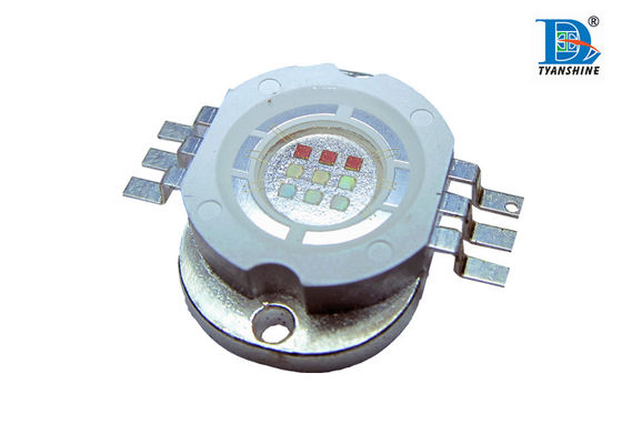 15W RGB Multi Color LED Diode , Green 510 - 520nm 400mA with 180° Degree Angle