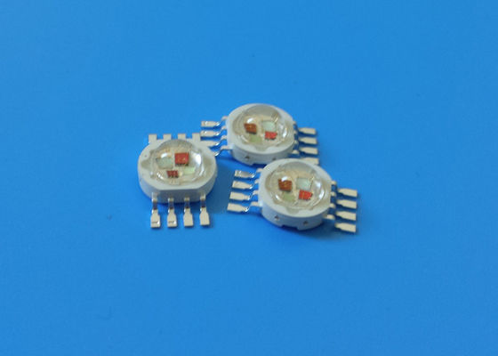 China 4in1 RGBA High Power Led Module , 8pins 4X2W RGB Amber LED Diode supplier