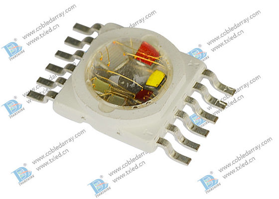 10 W High Power LED Diode , RGBWAP Multicolor Epiled Chip LEDs