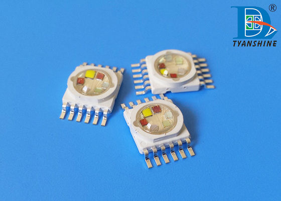 10W RGBWAUV LED Diode , 6-IN-1 High Power Multicolor LED Chip